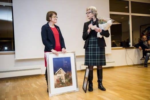 Administrasjonsleder May Holen og foreningsleder Synneve Munthe. Foto: Klaudia Lech