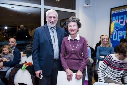 Frivillige i Oslo Sanitetsforening, Willy Øyrås og Marit S. Berg Øyrås. Foto: Klaudia Lech